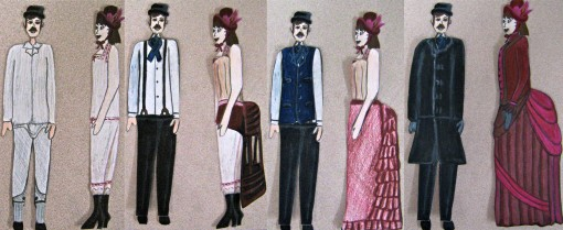 Color Pencil Paper Dolls 1885 French Fashion
