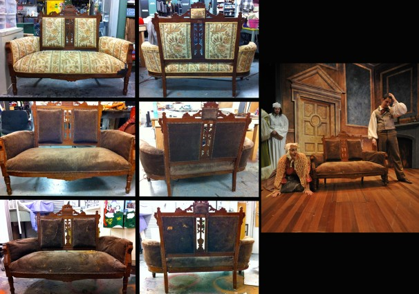 Settee (Before, Process, After)