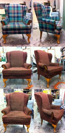 Wingback Chair (Before, Process, After)