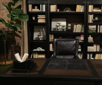 Staged Bookcases and Desks